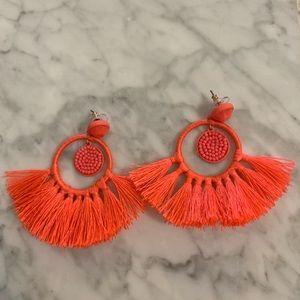 Coral JCrew earrings